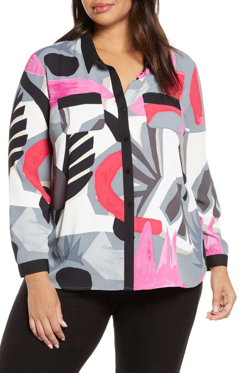 NIC+ZOE Masterpiece Shirt, Main, color, 100