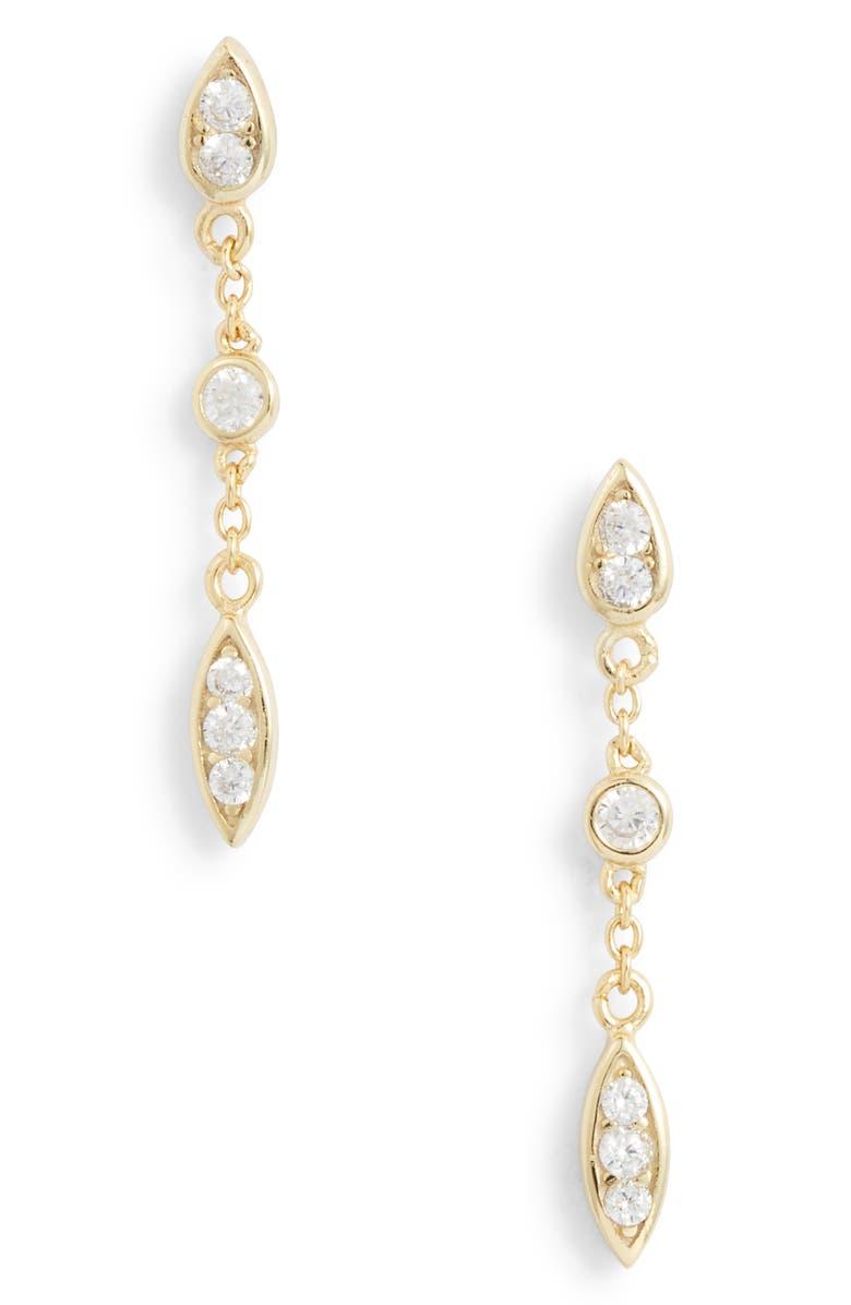ADINA'S JEWELS Adina's Jewels Teardrop Chain Earrings, Main, color, 710