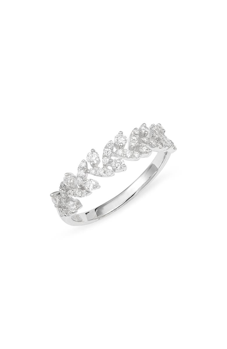 BONY LEVY Getty Leaf Diamond Ring, Main, color, WHITE GOLD/ DIAMOND