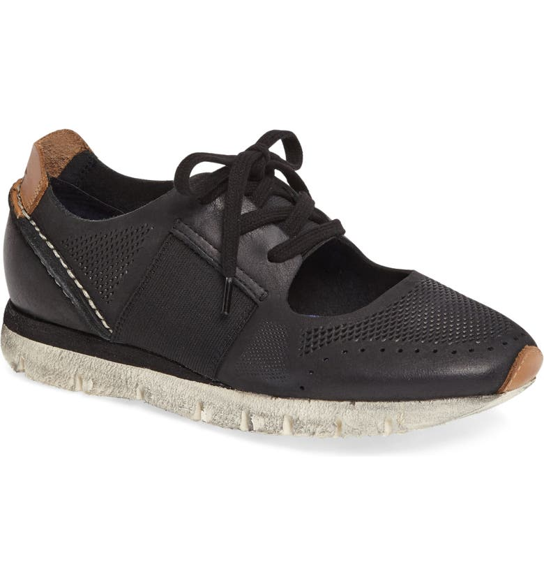 OTBT Star Dust Cutout Sneaker, Main, color, BLACK LEATHER