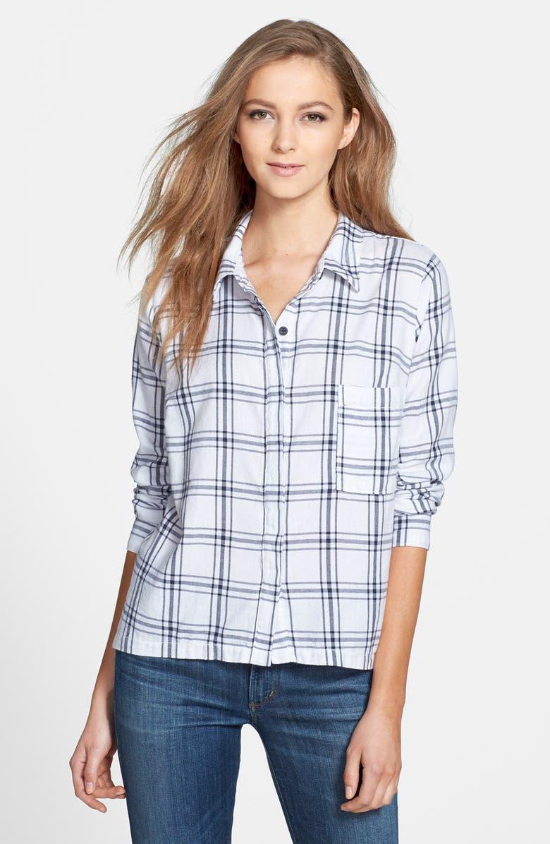 SPLENDID 'Aston' Flannel Shirt, Main, color, 100
