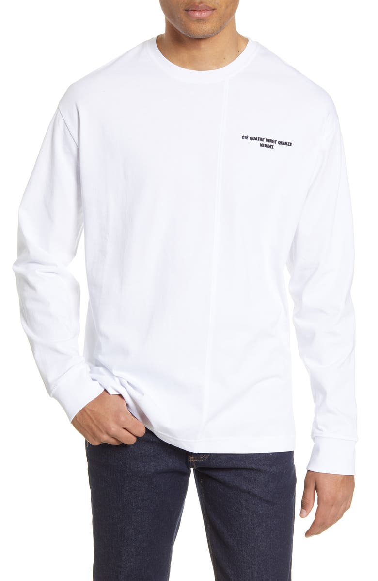 TOPMAN Le Temp Long Sleeve T-Shirt, Main, color, 100