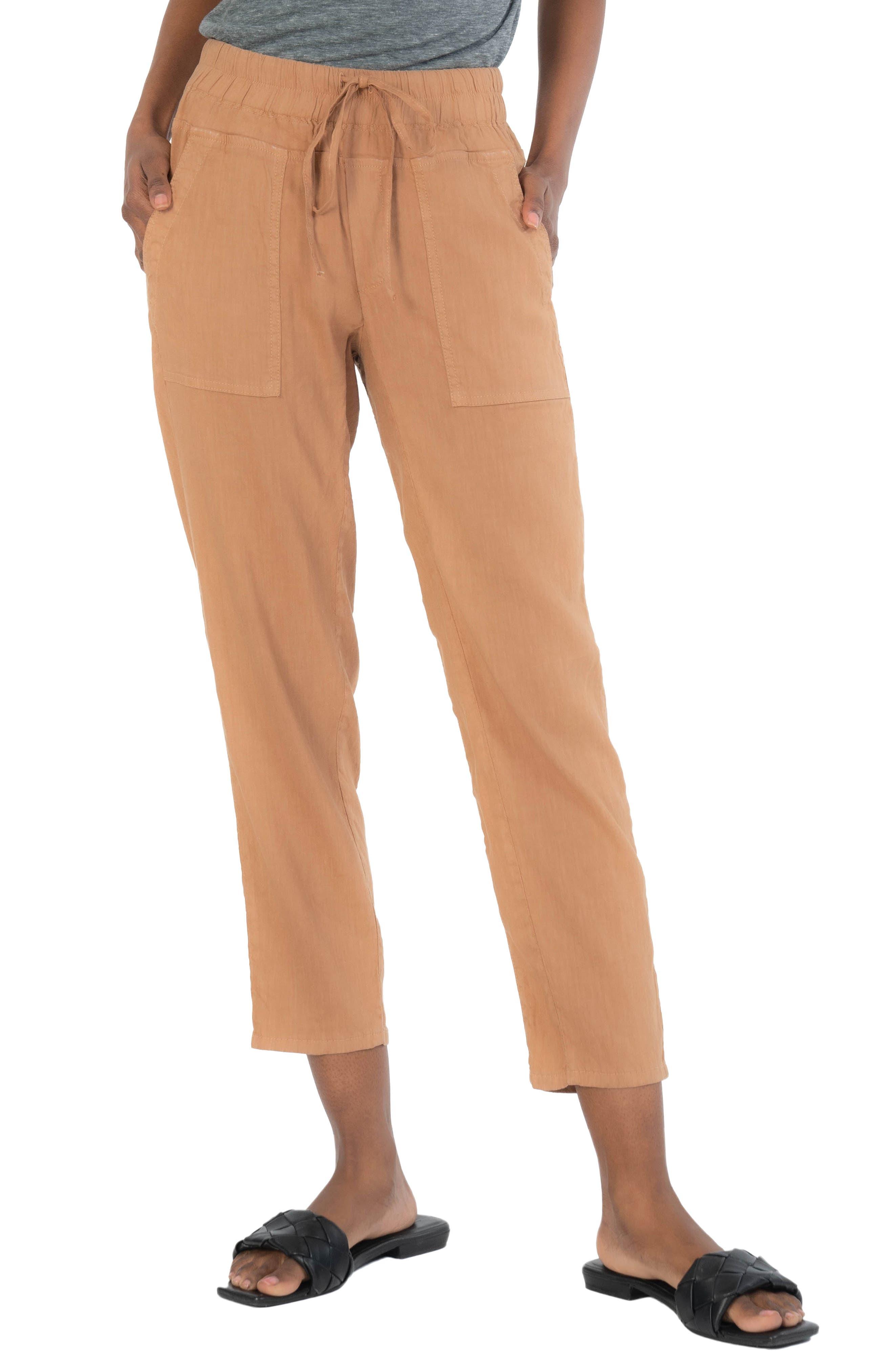 Drawcord Waist Crop Pants