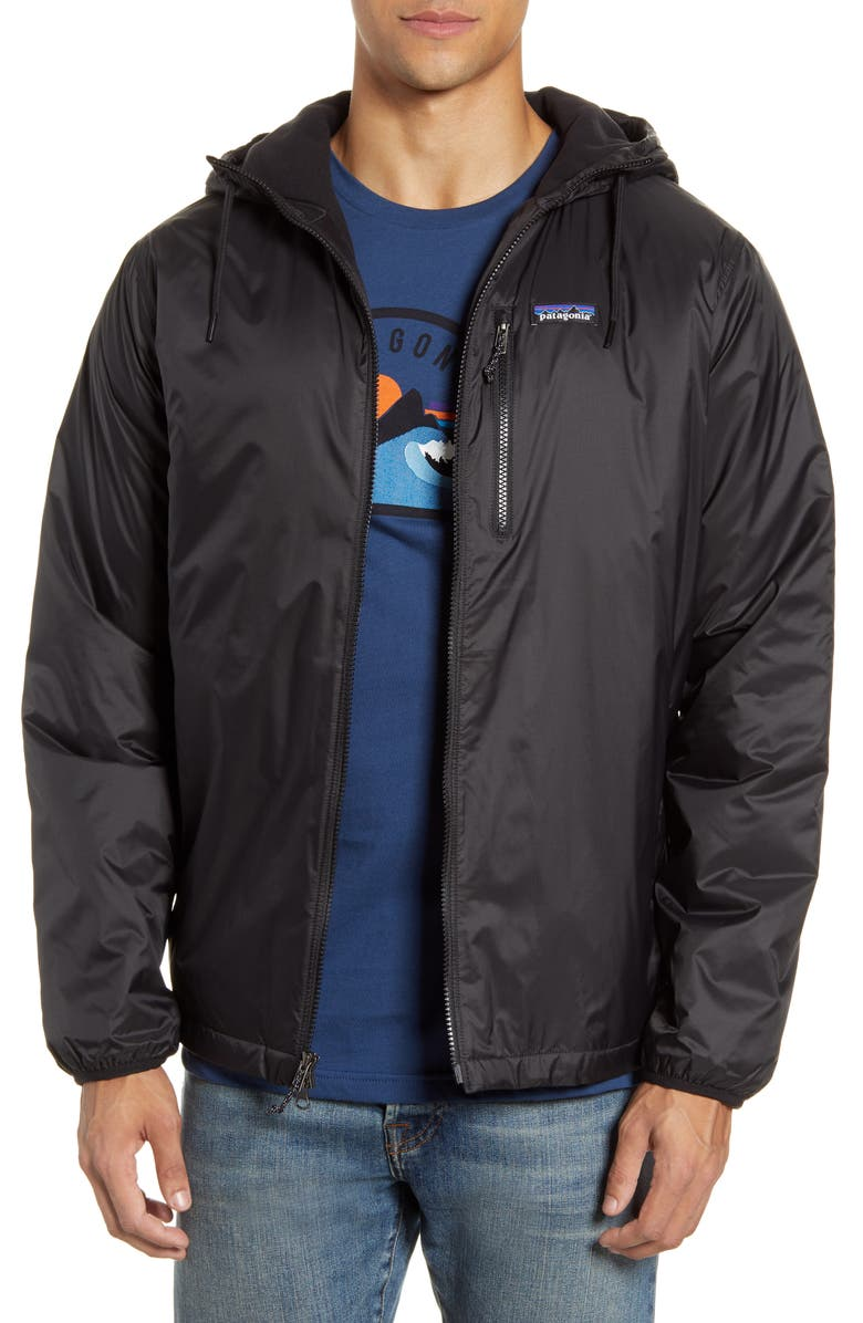 PATAGONIA Mojave Trails Hooded Coach's Jacket, Main, color, BLACK