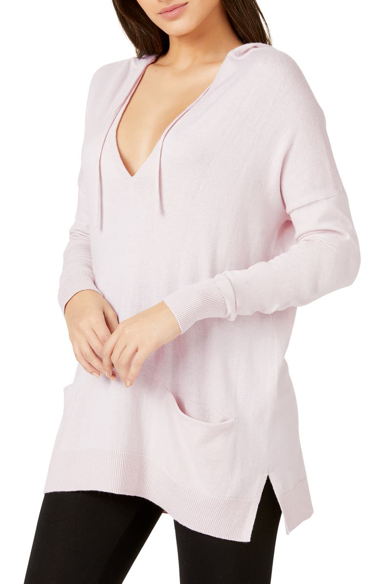 THE WHITE COMPANY Hooded Lounge Sweater, Main, color, PETAL PINK
