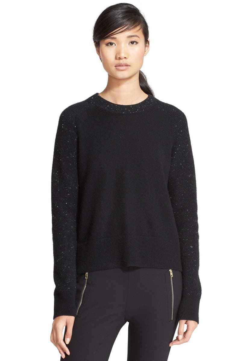 RAG & BONE 'Catherine' Cashmere Crewneck Sweater, Main, color, 001