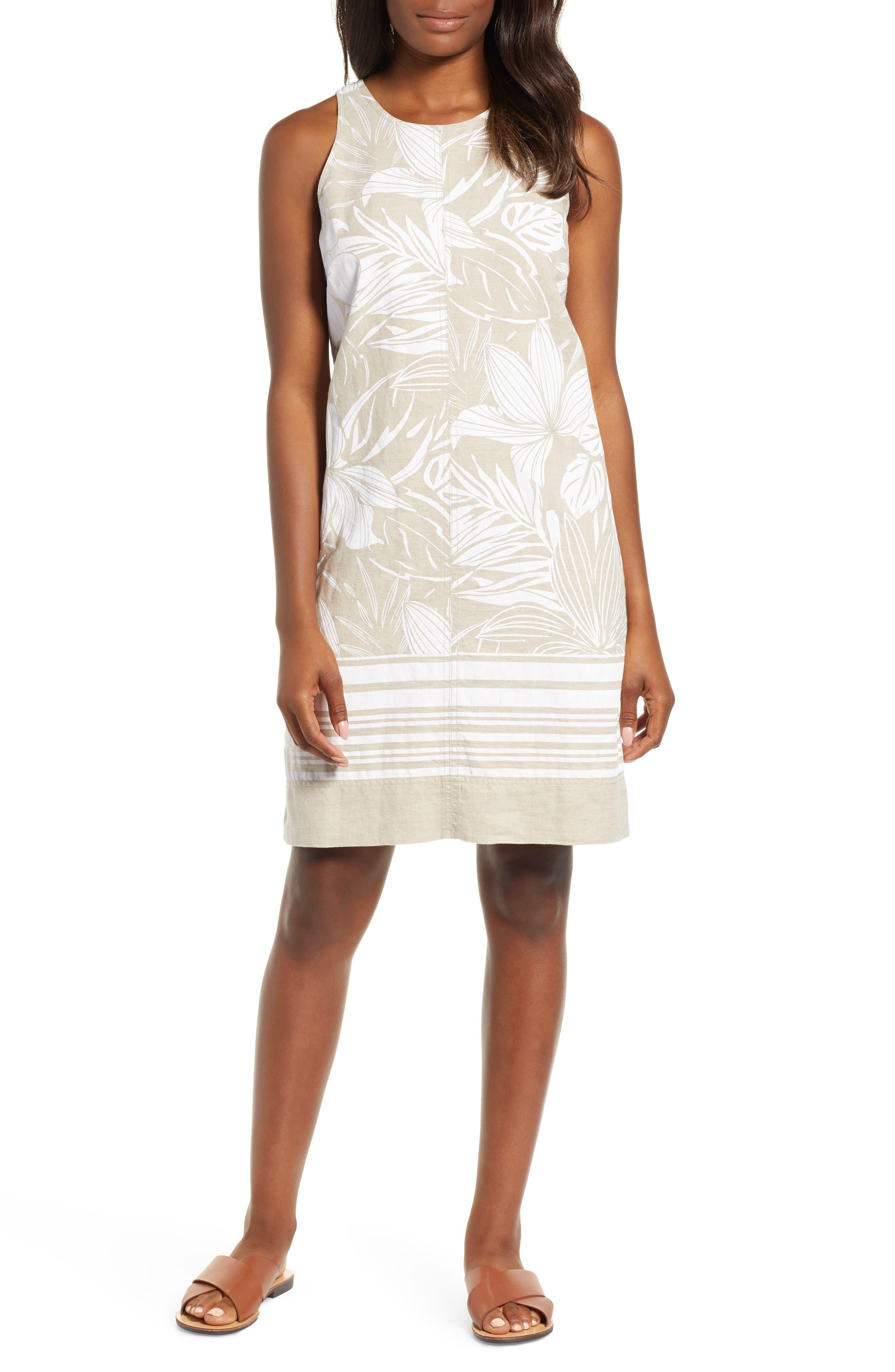Mahana Linen Shift Dress, Main, color, NATURAL LINEN