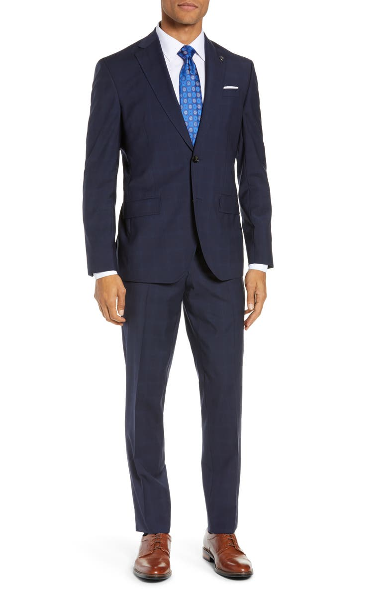 TED BAKER LONDON Roger Slim Fit Solid Wool Suit, Main, color, 410