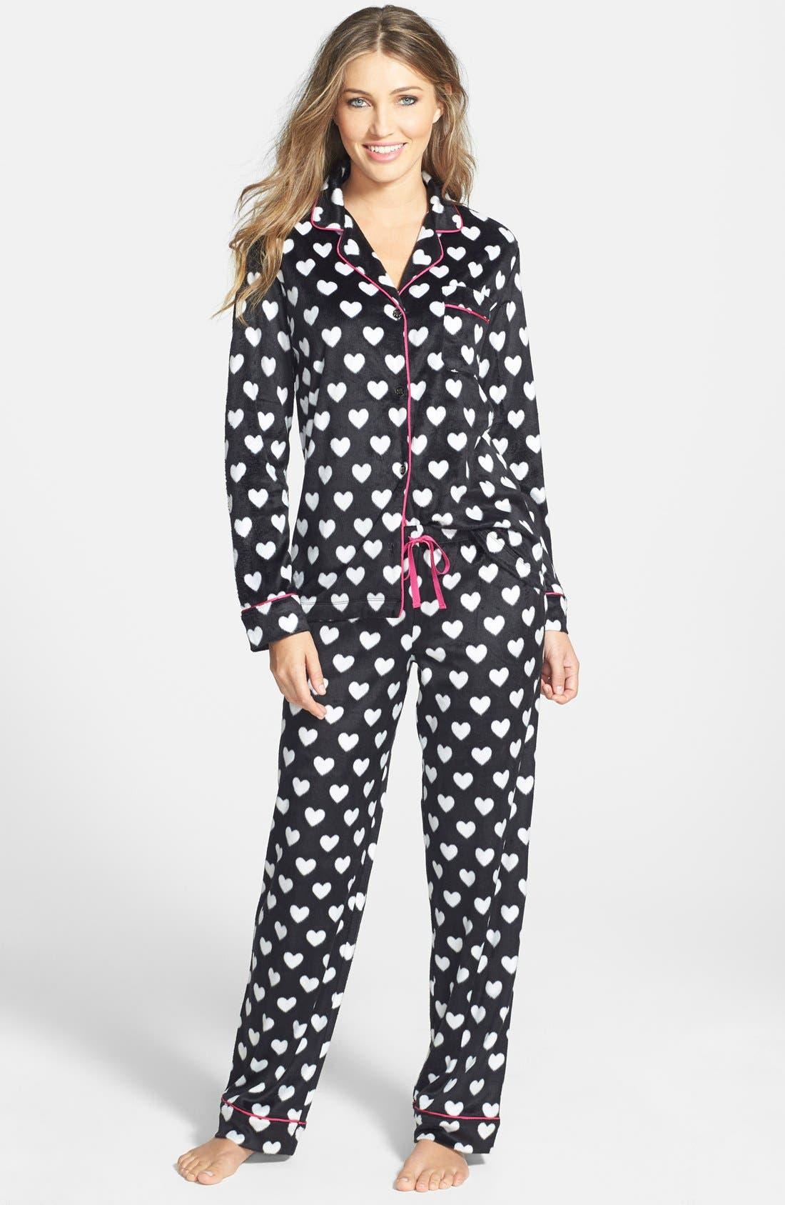 ,                             Long Sleeve Microfleece Pajamas,                             Alternate thumbnail 12, color,                             009
