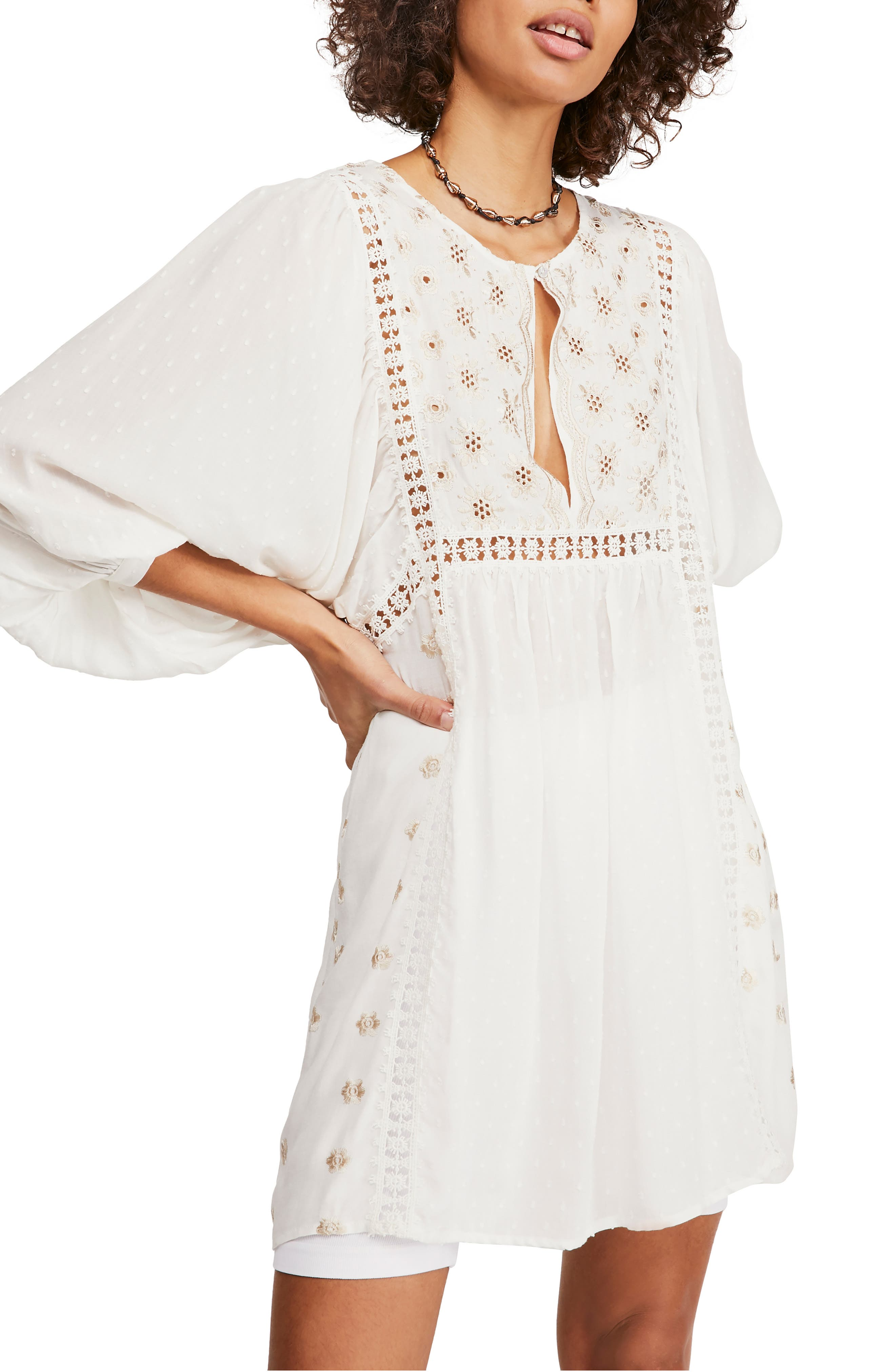 Free People Tops Embroidered Tunic