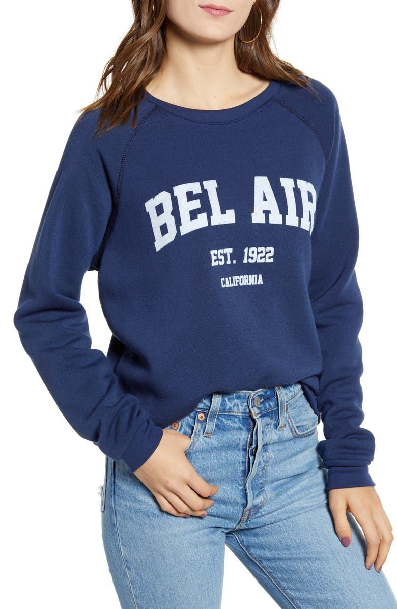 PROJECT SOCIAL T Bel Air Sweatshirt, Main, color, NAVY