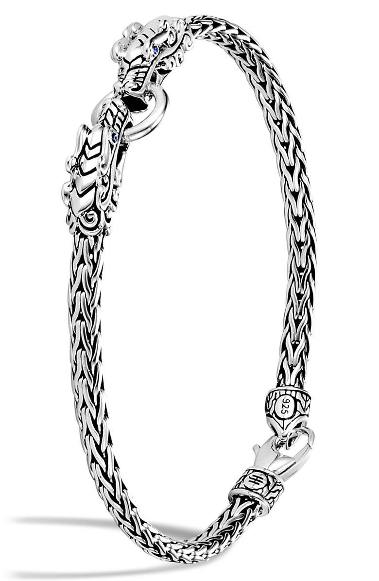 JOHN HARDY Legends Naga Blue Sapphire Station Bracelet, Main, color, 040