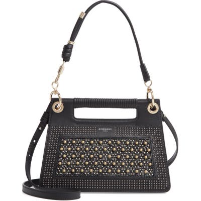 Givenchy Small Whip Studded Top Handle Bag - Black
