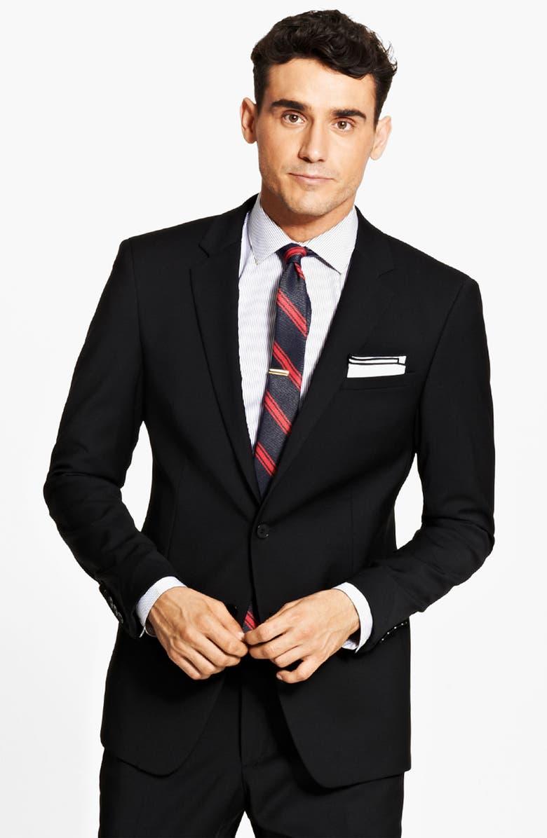 DOLCE&GABBANA Solid Suit, Main, color, 001