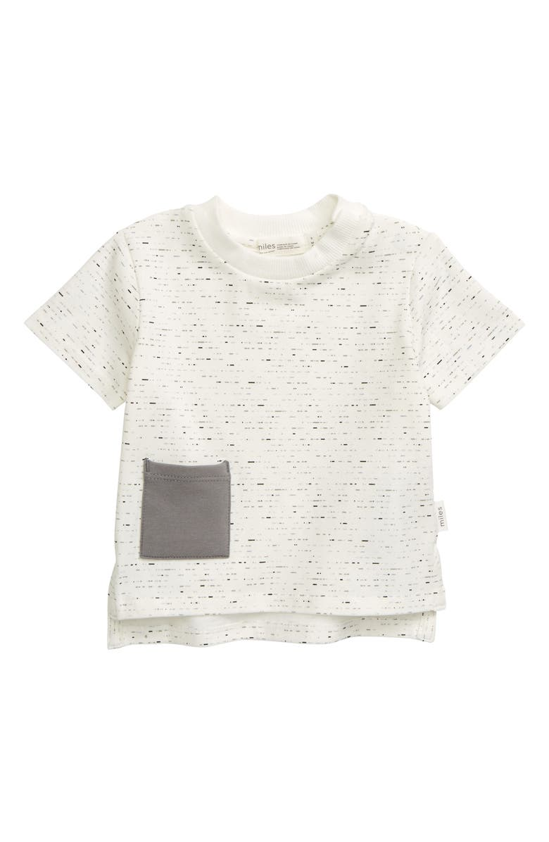 MILES BABY Pocket T-Shirt, Main, color, 101 OFF WHITE