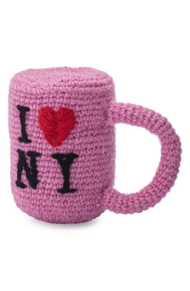 LOVETHYBEAST Mug Wool Dog Toy, Main, color, PINK