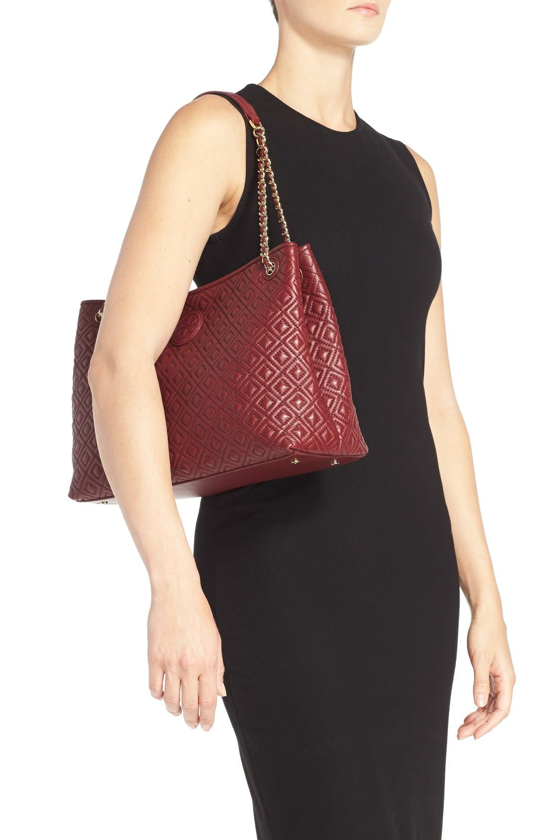 ,                             'Marion' Diamond Quilted Leather Tote,                             Alternate thumbnail 11, color,                             600