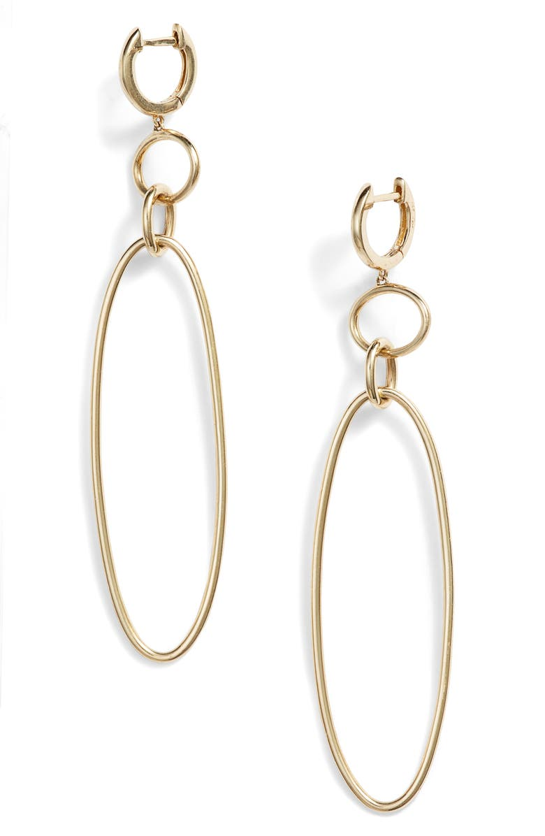 BONY LEVY 14K Gold Link Drop Earrings, Main, color, YELLOW GOLD