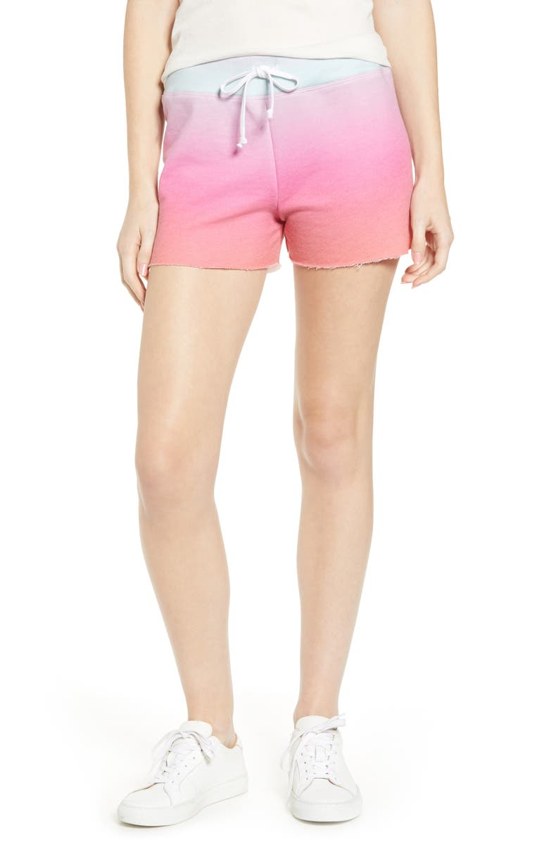 WILDFOX Kassidy Island Ombré Shorts, Main, color, MULTI