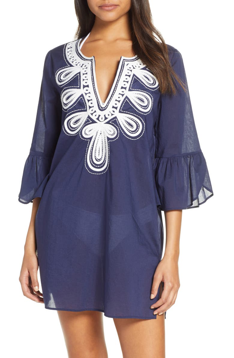 LILLY PULITZER<SUP>®</SUP> Piet Cover-Up Dress, Main, color, TRUE NAVY