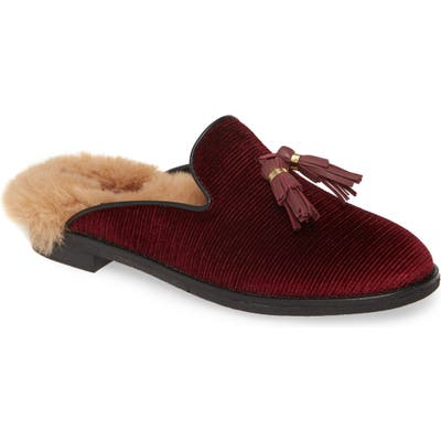 Sperry Seaport Levy Tassel Mule, Burgundy