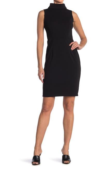 Image of Marina Mock Neck Sleeveless Dress
