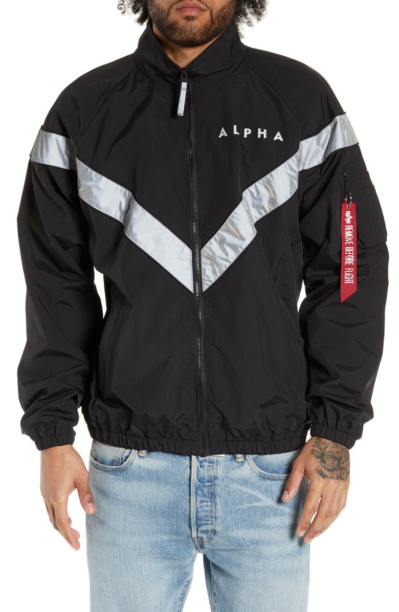 ALPHA INDUSTRIES PT Track Jacket, Main, color, BLACK