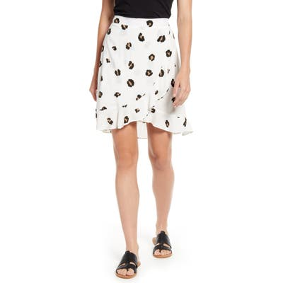 Petite Gibson X Hot Summer Nights Two Peas Ruffle Faux Wrap Skirt, Ivory (Regular & Petite) (Nordstrom Exclusive)