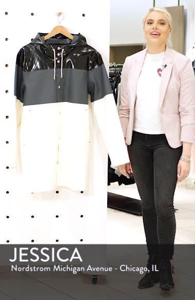 Stockholm Colorblock Waterproof Hooded Raincoat, sales video thumbnail