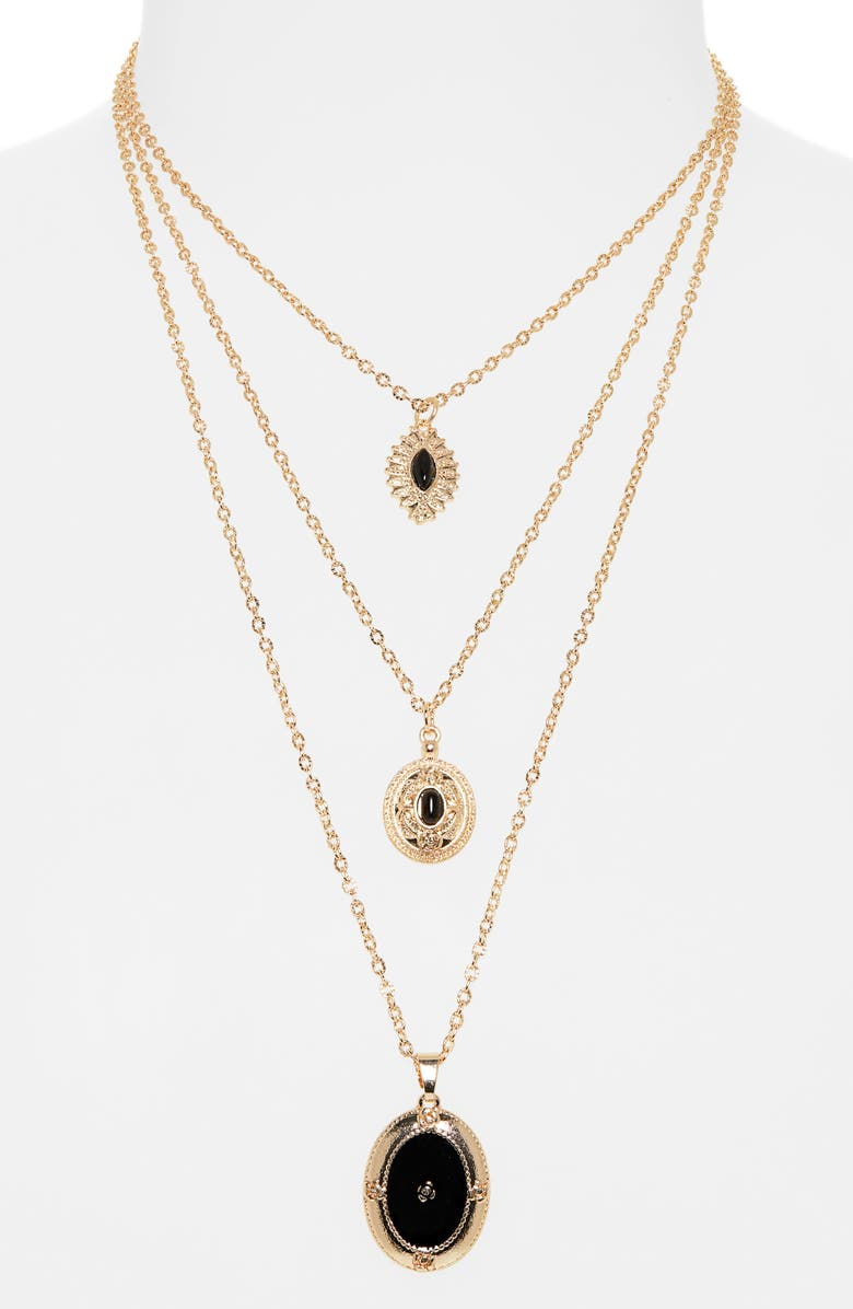 BP. Layered Pendant Necklace, Main, color, 001