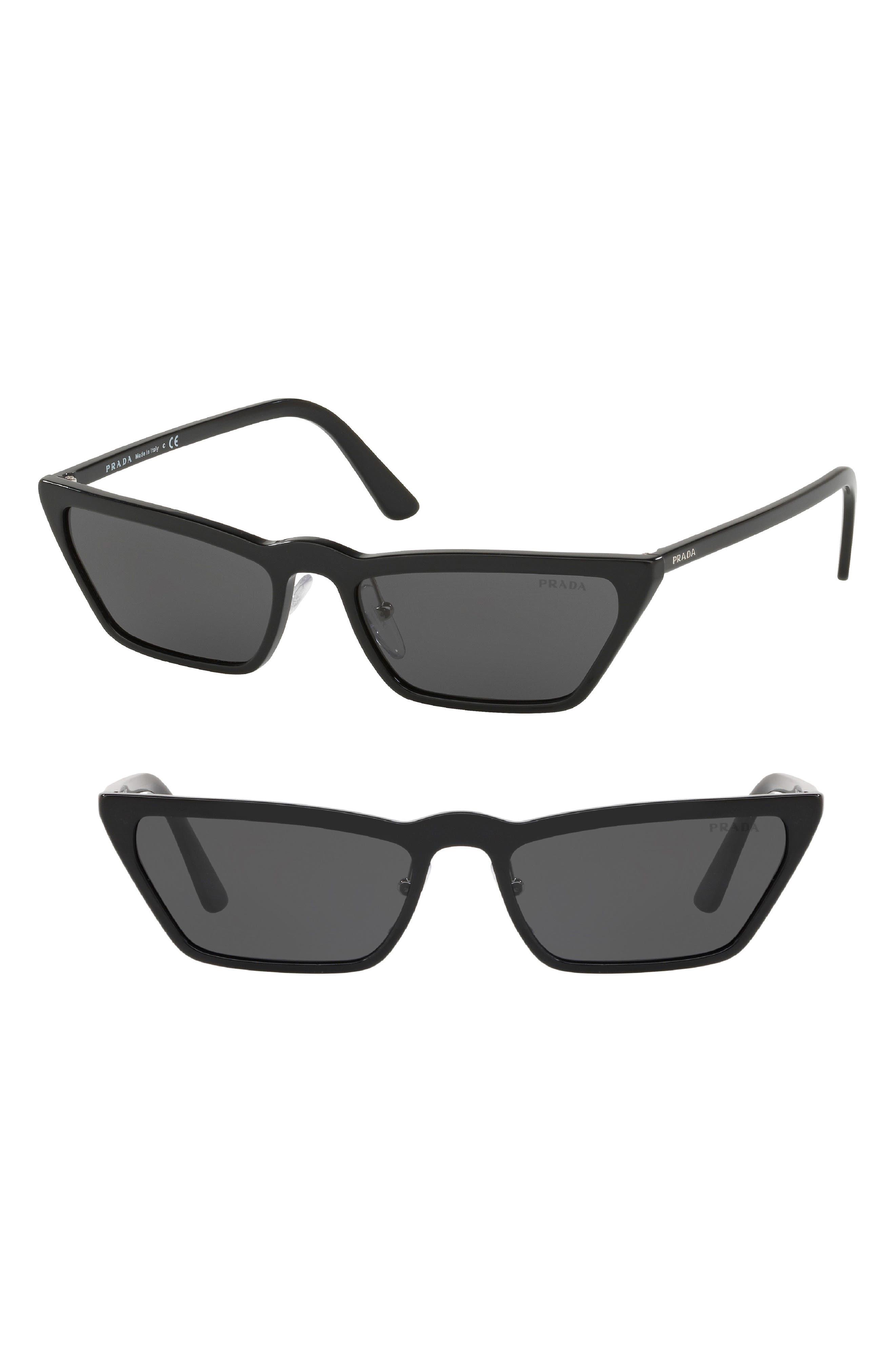 ,                             Ultravox 58mm Cat Eye Sunglasses,                             Main thumbnail 1, color,                             BLACK SOLID