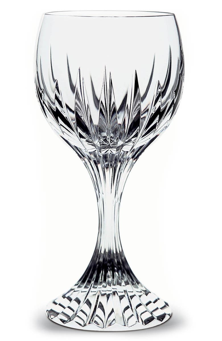 BACCARAT Massena Lead Crystal Goblet, Main, color, CLEAR
