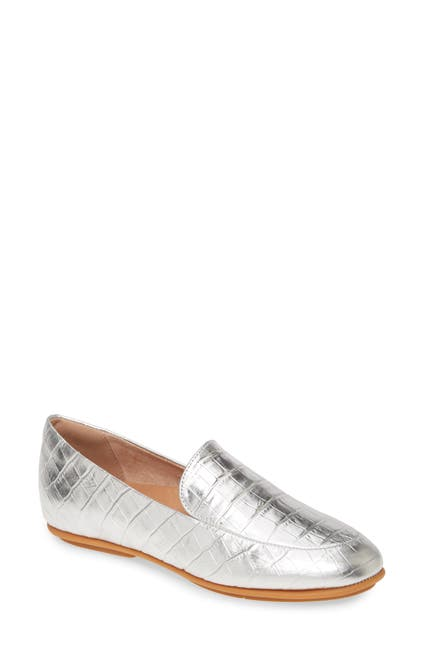 Image of FitFlop Lena Croc Embossed Loafer