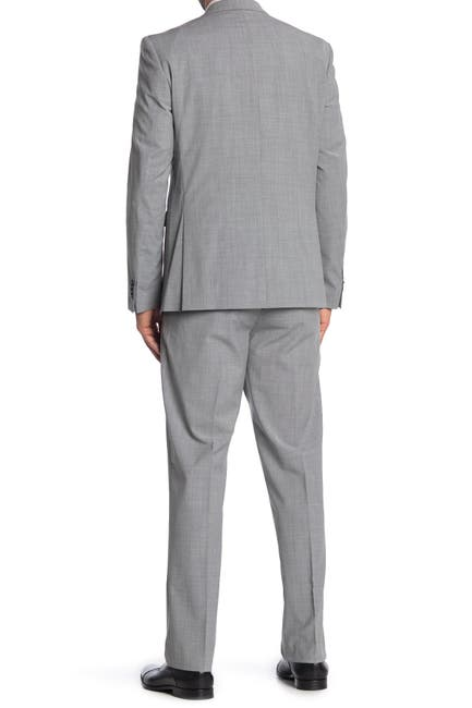 Image of Vince Camuto Light Gray Solid Two Button Notch Lapel Wool Slim Fit Suit