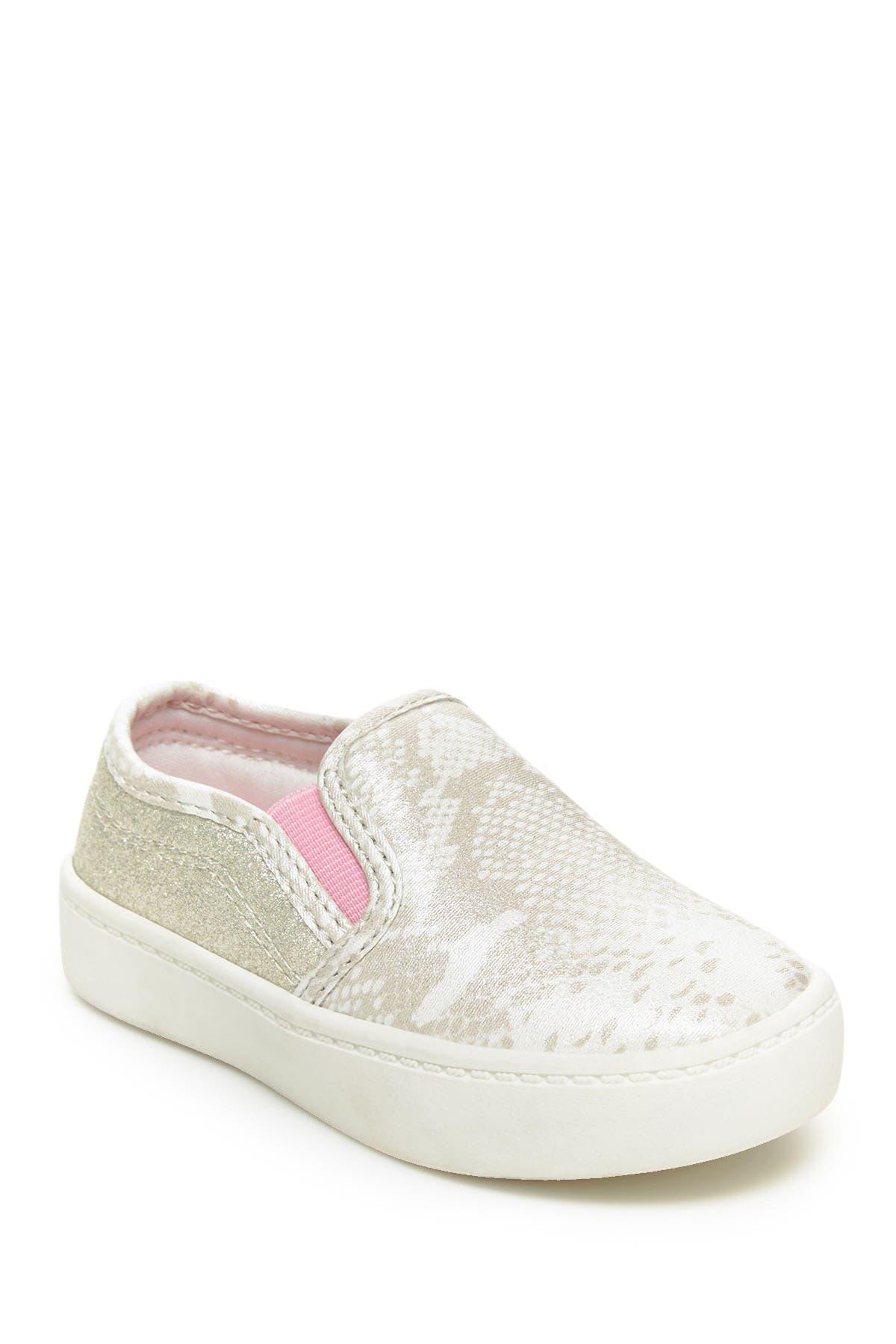 Image of Carter's Nettie Snake Embossed Slip-On Sneaker