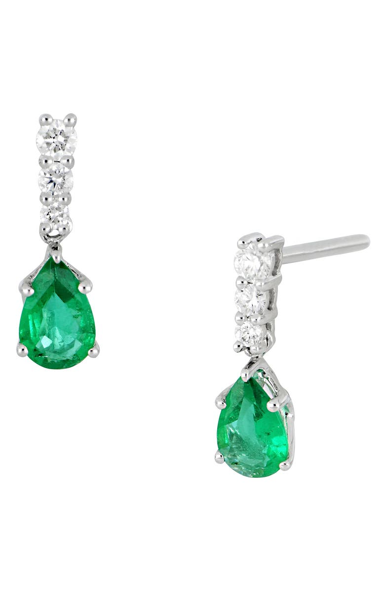 Emerald Diamond Drop Earrings Main Color