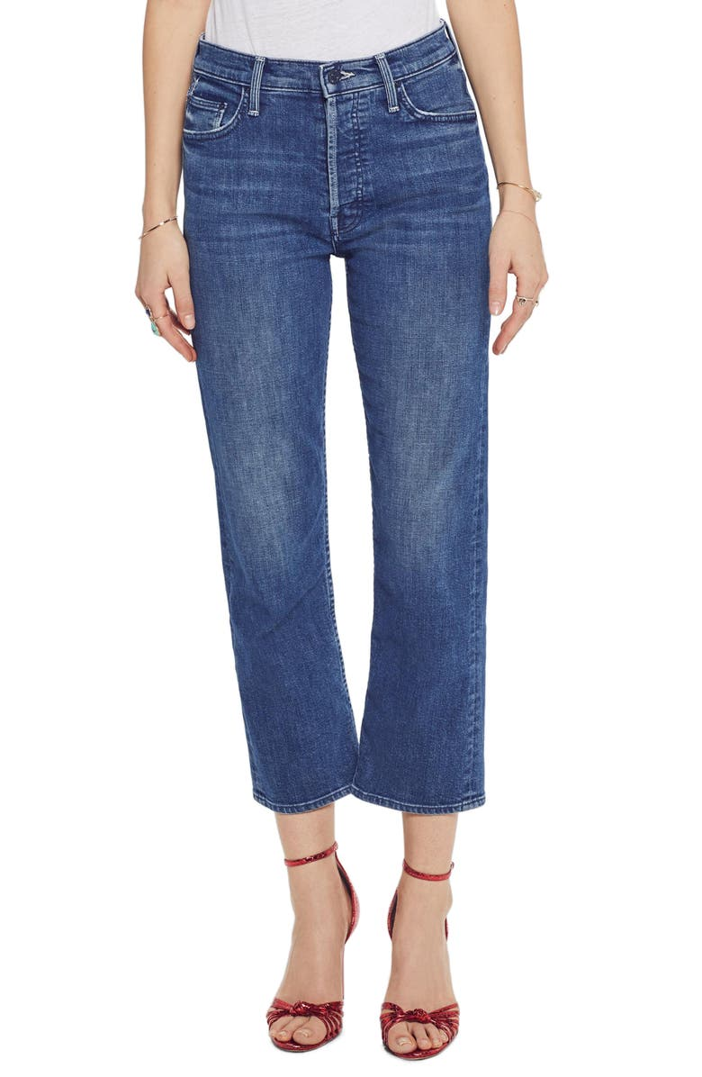 MOTHER The Tomcat Crop Straight Leg Jeans, Main, color, 401