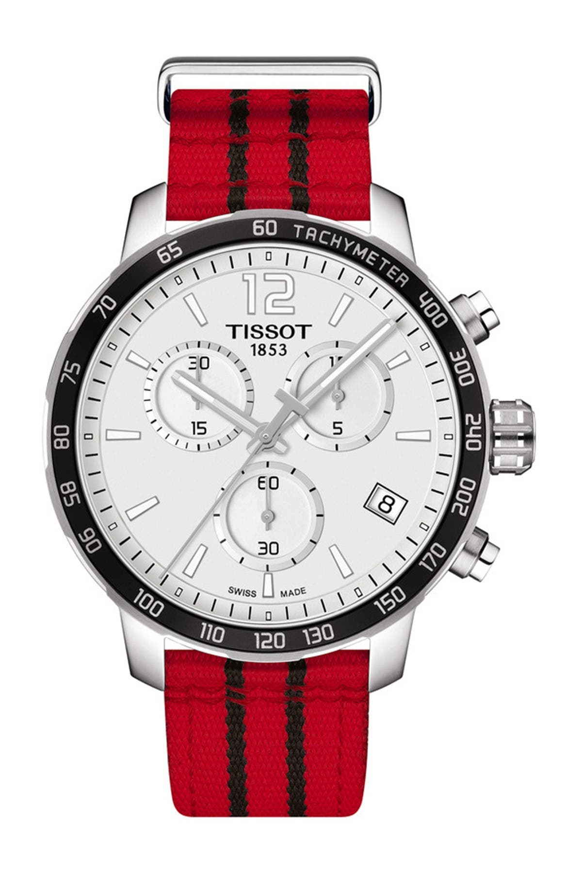 Image of Tissot Men's Quickster Chronograph NBA Chicago Bulls Watch, 42mm