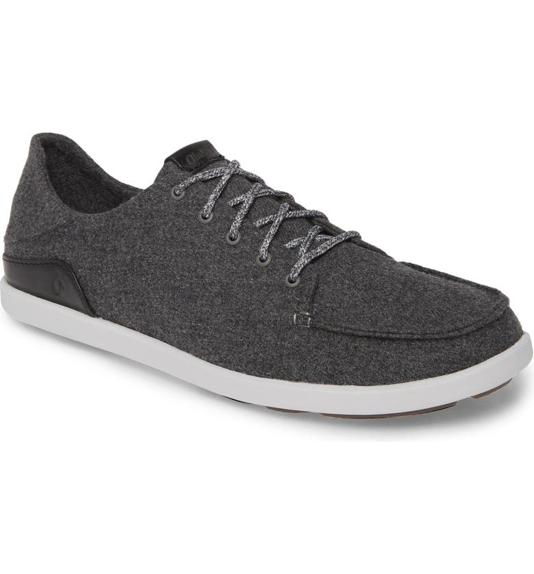 OLUKAI Manoa Hulu Sneaker, Main, color, DARK SHADOW / BLACK