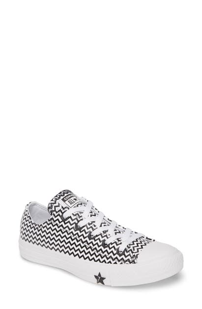 Converse Chuck Taylor All Star Mission Leather Low Top Sneaker In White/  Black/ White