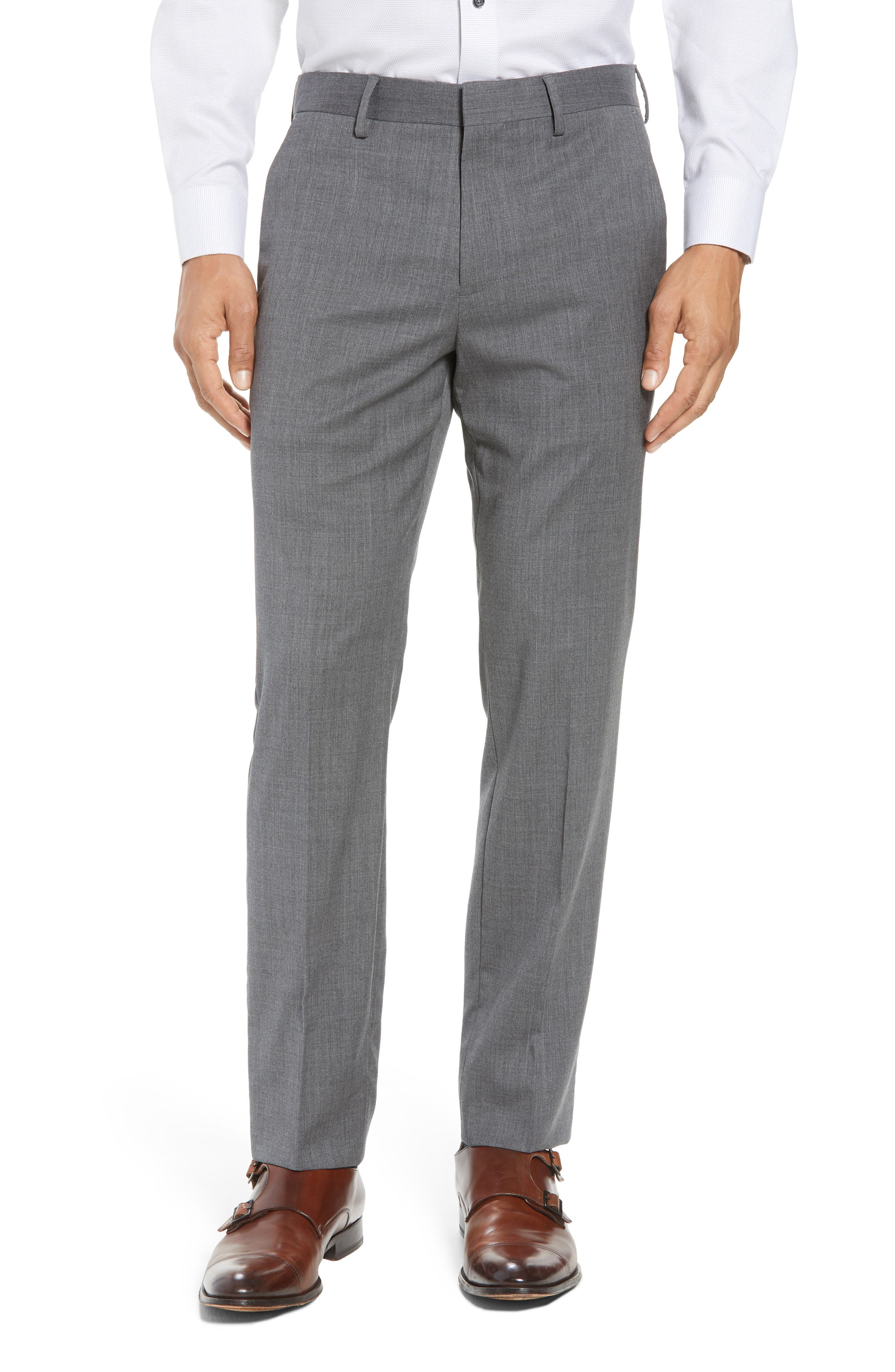 ,                             Jetsetter Slim Fit Flat Front Stretch Wool Trousers,                             Main thumbnail 20, color,                             050