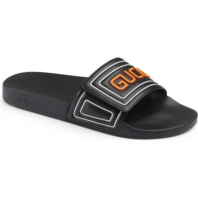 Gucci Logo Slide Sandal, US / 13UK - Black