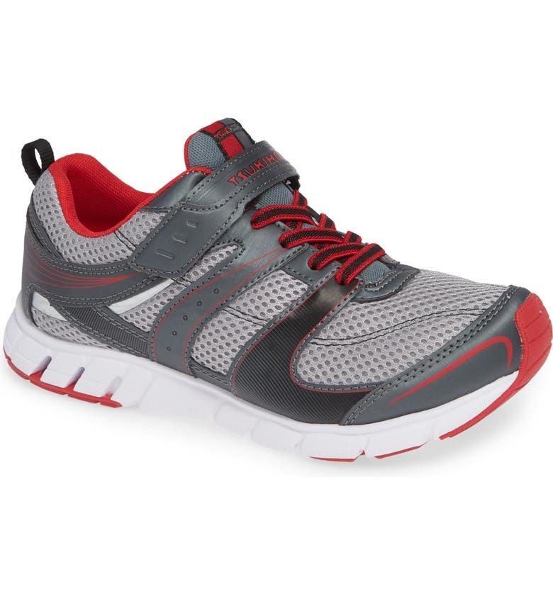 TSUKIHOSHI Velocity Washable Sneaker, Main, color, GRAPHITE/ RED