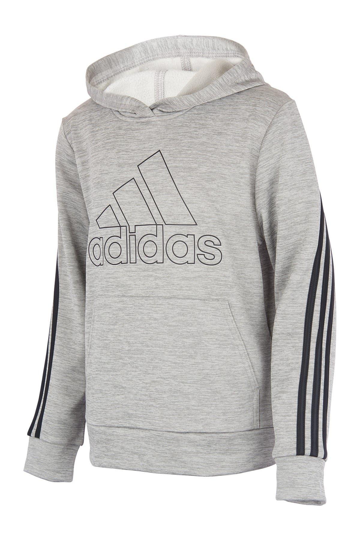 Image of adidas 3-Stripe Melange Pullover Hoodie