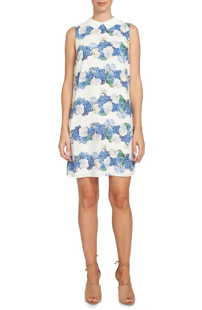 CECE Hydrangea Plaid Shift Dress, Main, color, 900