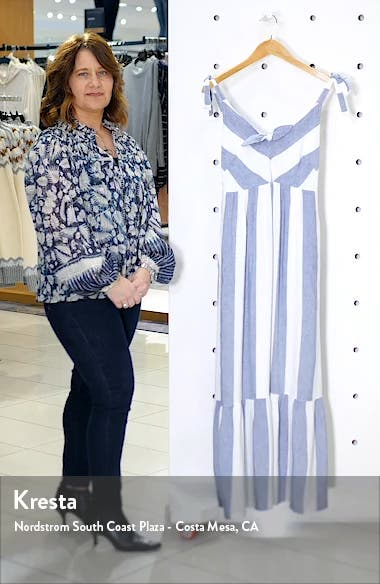 Rugby Beach Stripe Cover-Up Maxi Dress, sales video thumbnail