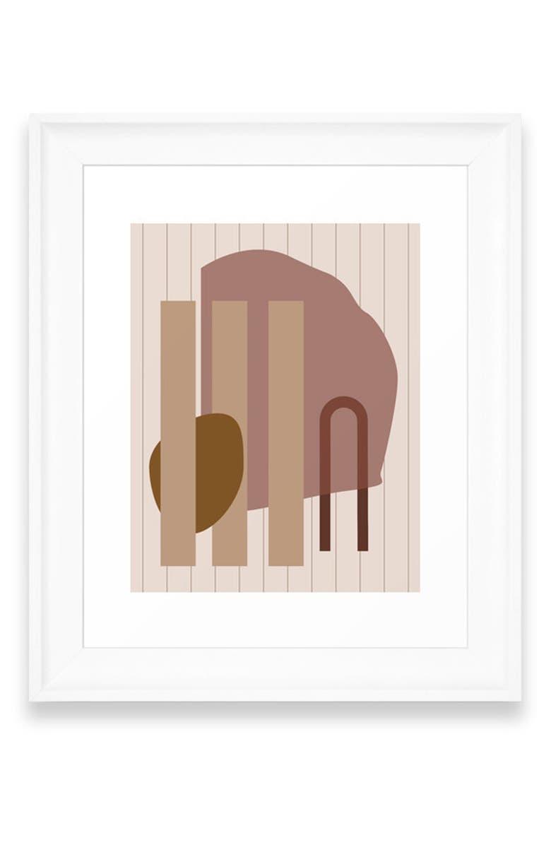 DENY DESIGNS Shape Study 25 Art Print, Main, color, WHITE FRAME- 8X10