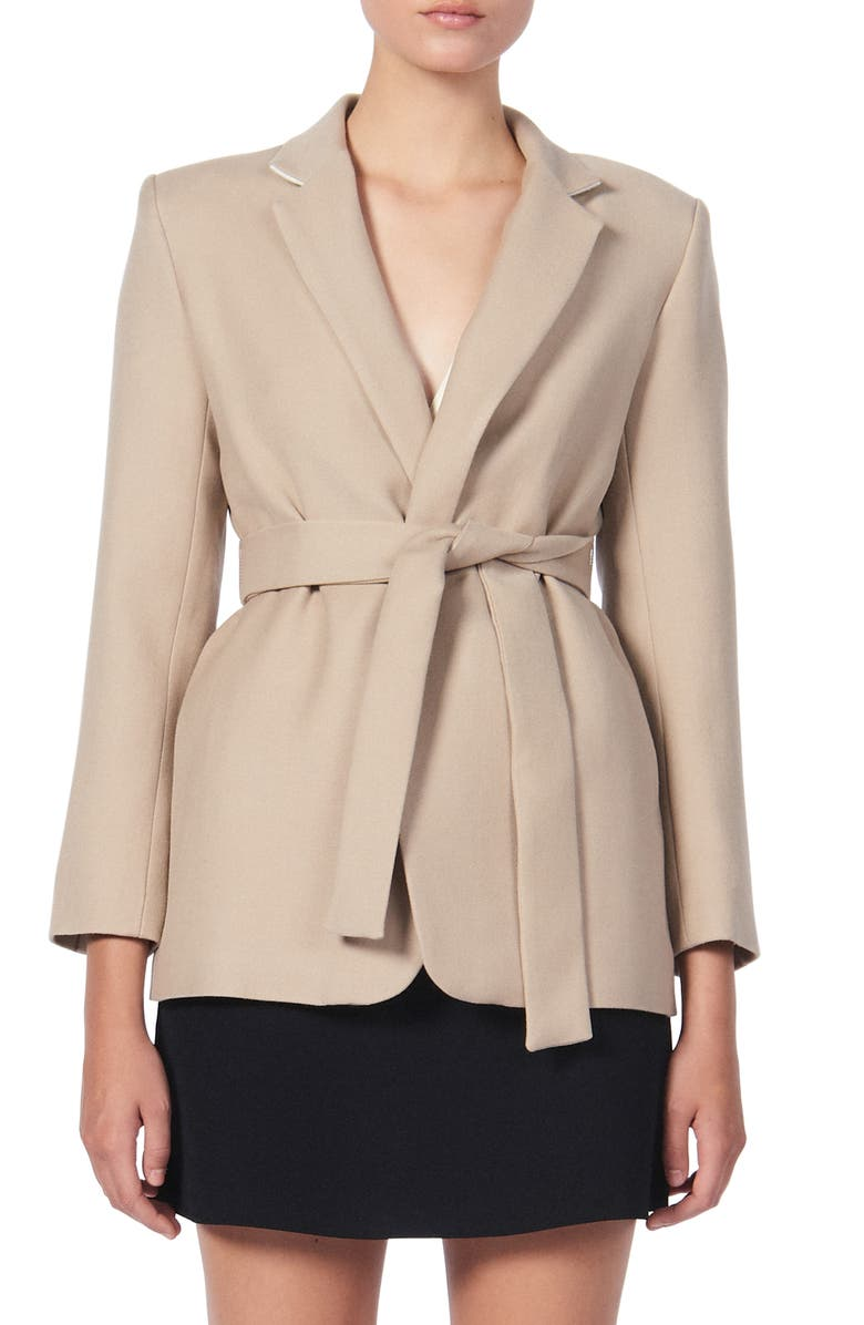 SANDRO Bravy Belted Jacket, Main, color, 250