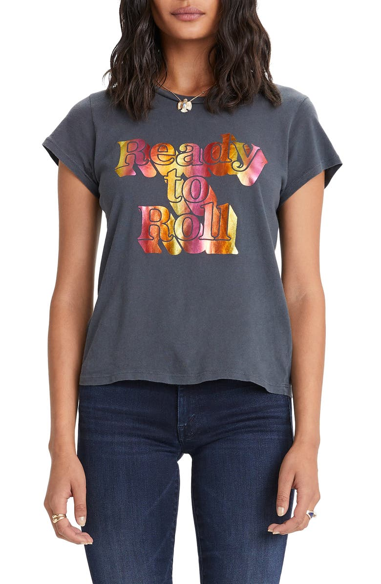 MOTHER 'The Boxy Goodie Goodie' Cotton Graphic Tee, Main, color, READY TO ROLL