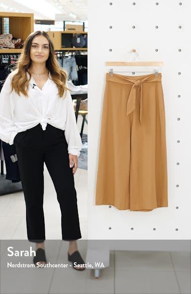 Tie Front High Rise Wide Leg Crop Pants, sales video thumbnail